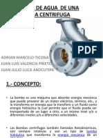 Perdidas de Agua de Una Bomba Centrifuga EXPONER
