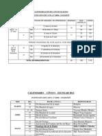 Calendarizaciòn Del Año Escolar 2012