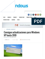 Consigue Actualizaciones Para Windows XP Hasta 2019