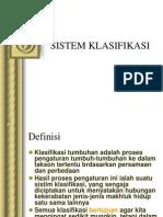 Sistem Klasifikasi Tumbuhan
