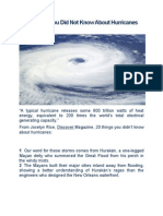 20 Things You Did Not Know About Hurricanes