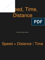 Speed, Time and Distance
