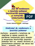 3. Sindromul de Condensare a Ţesutului Pulmonar