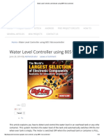 Water Level Controller and Indicator Using 8051 Microcontroller
