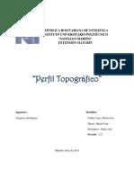 Perfil Topografico, Expo Gregorio Rodriguez