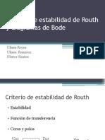 Criterio de Estabilidad de Routh y Diagramas de Bode