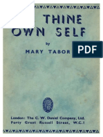 Tabor Mary to Thine Own Self