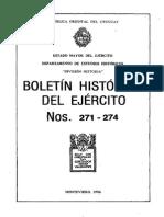 120 Ejercito Uruguayo Boletín Histórico Nº 271 - 274 - Año 1986