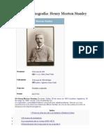 Una Breve Biografia. Henry Morton Stanley