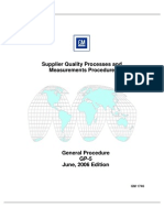 GP-5 Supplier Quality Processes and Measurements Procedure