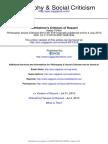 Horkheimer's Criticism of Husserl (013) Ph&SC