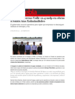 16-07-2014 S Puebla - Entrega Moreno Valle 12.4 mdp en obras a Santa Ana Xalmimilulco.
