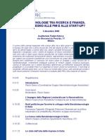Nanobiotecnologie Tra Ricerca e Finanza (Programma 3/12/2009)