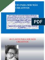 40 Claves Para Ser Mas Creativo