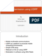 E_Video Transmission Using USRP