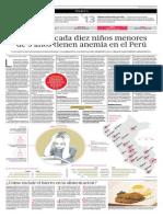 Cuatro de cada diez niños menores de 3 años tienen anemia en el Perú - Lorena Alcázar - El Comercio - 170614