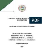 Manual de Evaluacion Del Desempeno 08322