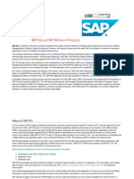 SAP AG and Their SAP Software Products