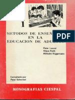 Metodos de Enseñanza en La Educacion de Adultos