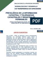 6 . Prevalencia y Tolerancias de Area