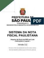 Arquivos Manual NFe Layout RPS