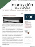 Comunicacion Estrategica La Comunicacion y El Plan Estrategico