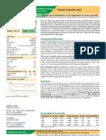 Prism Cement Ltd. Initiating Coverage June 2014