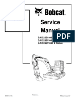 Bobcat 442 Mini Excavator Service Manual