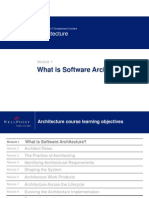 Architecture - Module 1 - What is Software Architecture Rel 1 v2