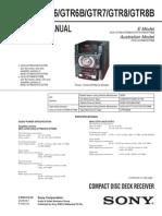 9553 Sony HCD-GTR6 GTR7 GTR8 Sistema Audio CD-USB Manual de Servicio