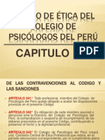 Código de Ética Del Colegio de Psicólogos Del