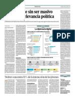 Twitter Sigue Sin Ser Masivo Pero Gana Relevancia Política_El Comercio 4-07-2014