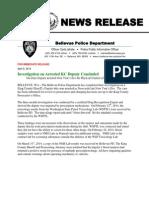 Bellevue Police Dept - Richtmyer release