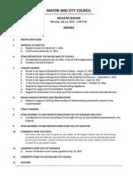 July 21 2014 Complete Agenda