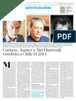 Coetzee, Auster y Siri Hustvedt