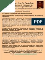 Cartel Escritorio Juridico p&d