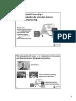 Module I - Materials Process