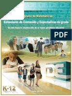 Estandares de Matematicas 2014