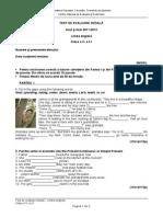 Evaluare Initiala Lb Engleza Cls 5 L1 Sub