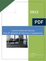 Gai045 Metodología de Auditoría Interna - Fase IV Emisión de Informes y Seguimiento