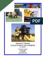 Operator's Manual ALMACO SPLIT TR COMBINE