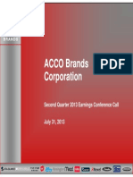 ACCO Brands Q2 2013 Conference Call Slides - 7.31.13