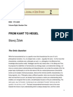 From Kant to Hegel