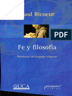 Ricoeur, Paul - Fe y Filosofia. Problemas Del Lenguaje Religioso