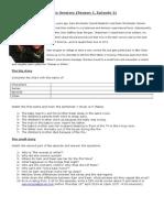 Supernatural Worksheet