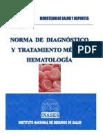 Norma de Diagnostico y Tratamiento de Hematologia