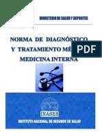 Norma de Diagnostico y Tratamiento en Medicina Interna