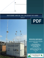 Informe Calidad Del Aire - Anual 2013
