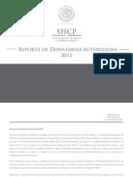 Reporte Donatarias 2013