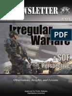 Irregular Warfare A SOF Perspective, Newslatter 11-34, 2011